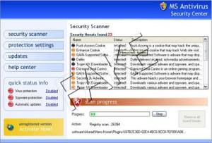 MS Antivirus 2008 rogue anti-spyware