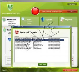 Antivirus Agent Pro rogue anti-spyware