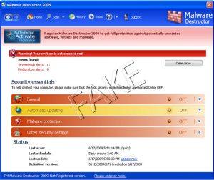 Malware Destructor 2009 rogue anti-spyware