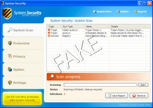 System Security rogue anti-spyware