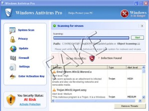 Windows Antivirus Pro rogue anti-spyware