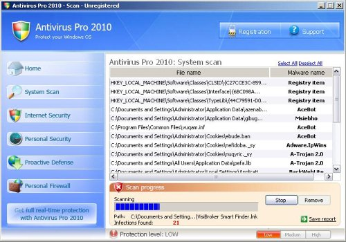 Antivirus Pro 2010 screenshot