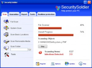 securitysoldier rogue anti-spyware