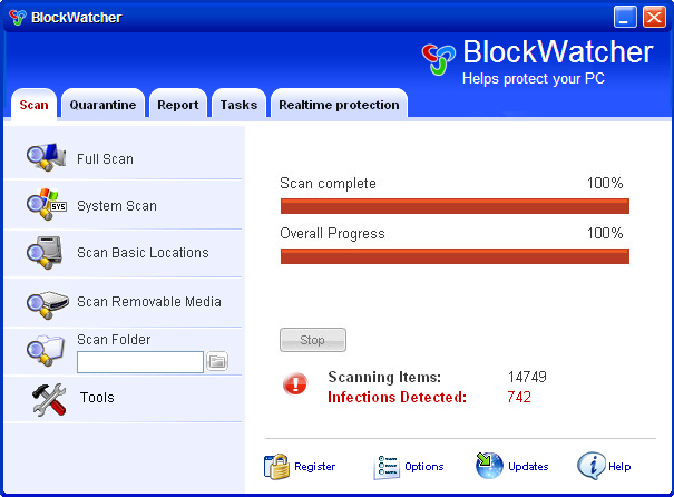 BlockWatcher screenshot