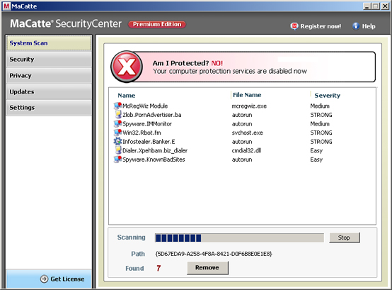 related image #1 from MaCatte Antivirus 2009
