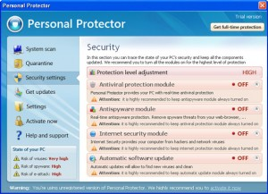 personal protector rogue anti-spyware