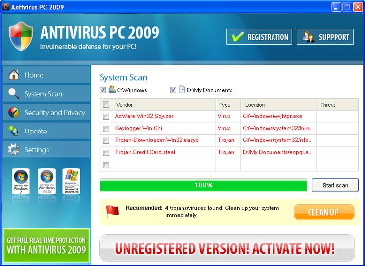 related image #1 from Antivirus PC 2009
