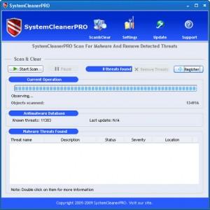 systemcleanerpro rogue anti-spyware