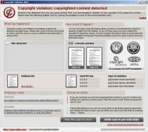 Copyrightviolationalert