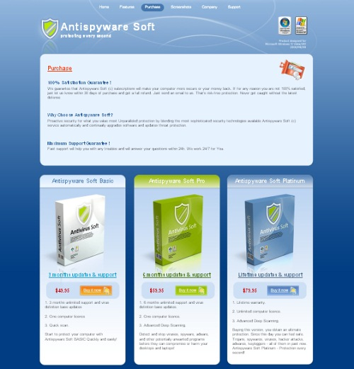 Antisywaresuite.com screenshot