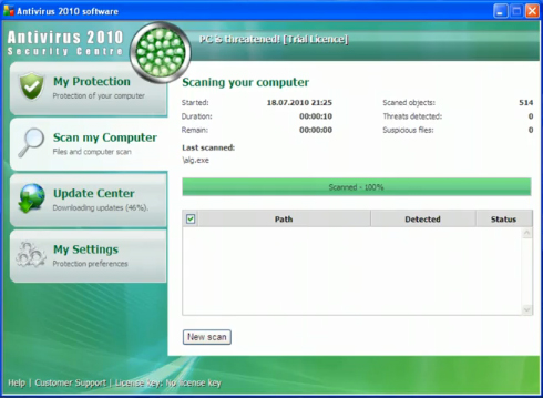 related image #1 from Antivirus 2010 Security Centre