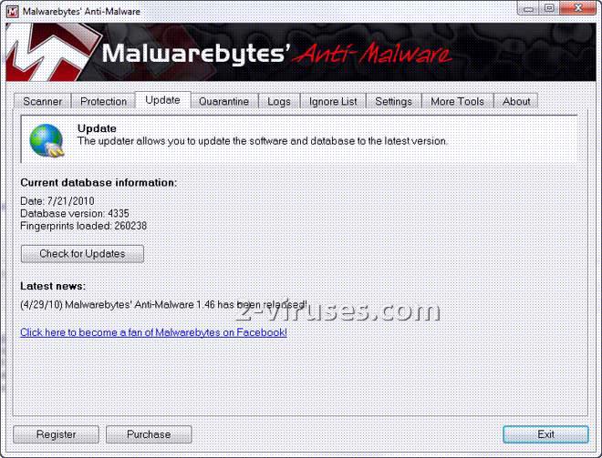 MalwareBytes' Anti-Malware updater