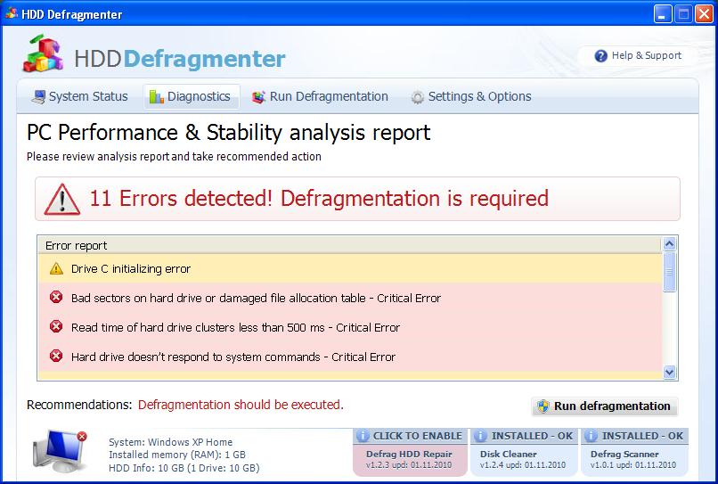 HDD Defragmenter