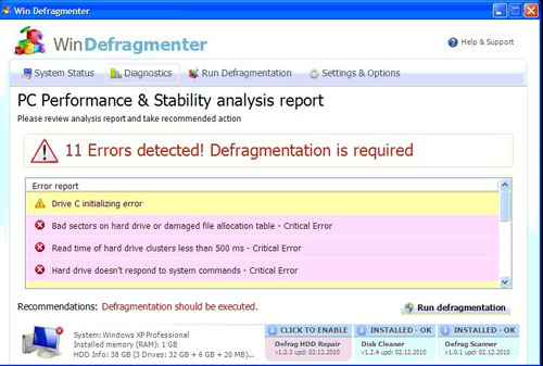 Win Defragmenter