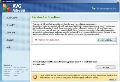 related image #1 from AVG Antivirus 2011 (Fake)
