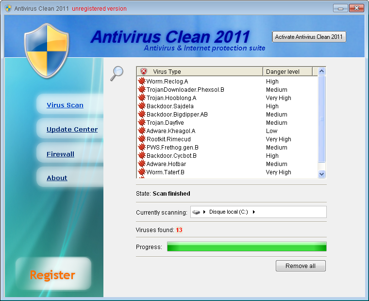 related image #1 from Antivirus Clean 2011