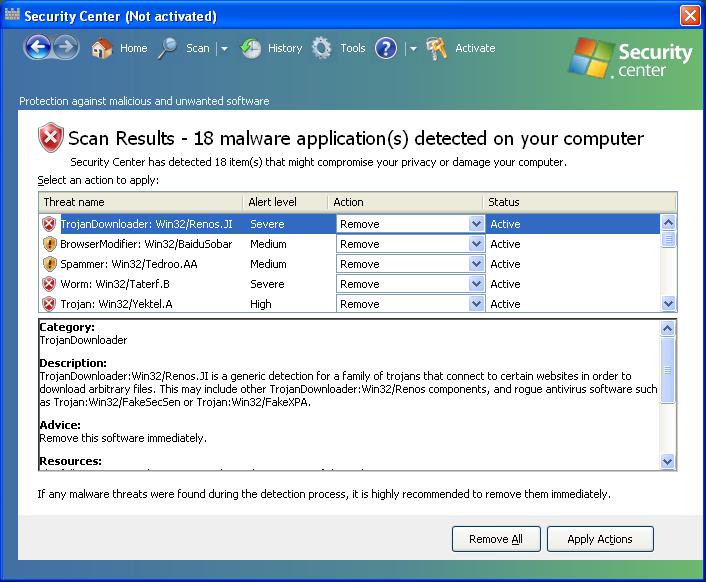 Security Center - How to remove - 2-viruses com
