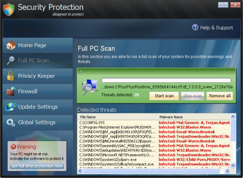 Security Protection screenshot