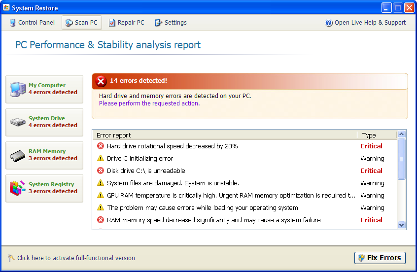 related image #1 from System Restore (fake)
