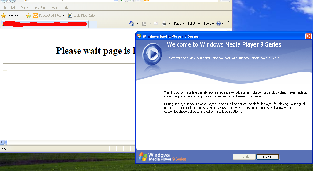 Blackhole exploit kit installing trojan disguised as fake Windows Media player.