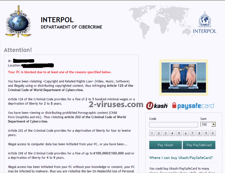 related image #1 from Interpol Department of Cybercrime virus