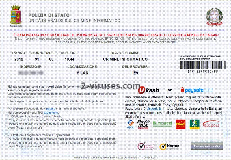 Polizia Di Stato virus - How to remove - 2-viruses.com