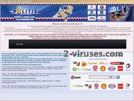 Korps Landelijke Politiediensten virus