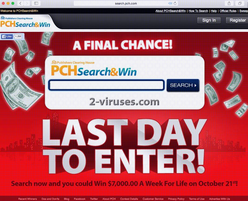 PCH Search Engine - How to remove - 2-viruses com