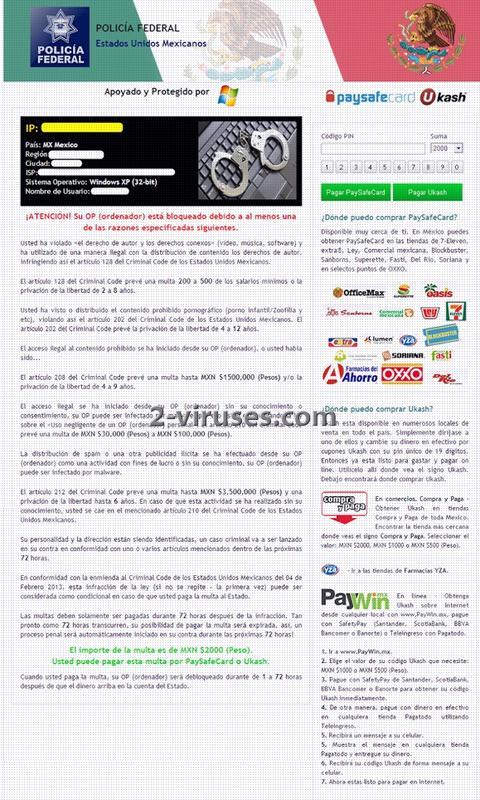 Policia Federal Mexico Virus