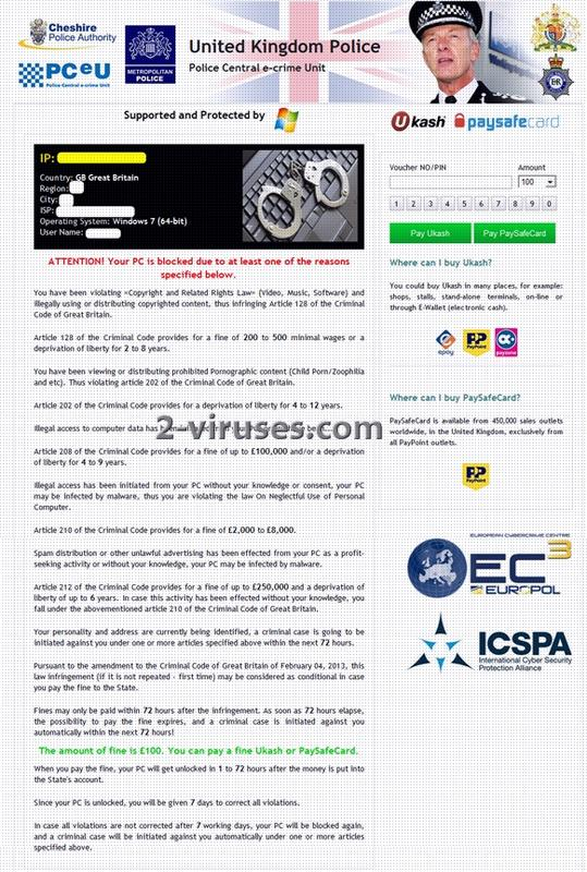related image #1 from The Cheshire Police Authority Virus