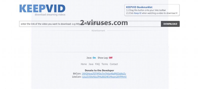 KeepVid virus - How to remove - 2-viruses com