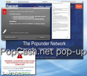 Popcash.net popup