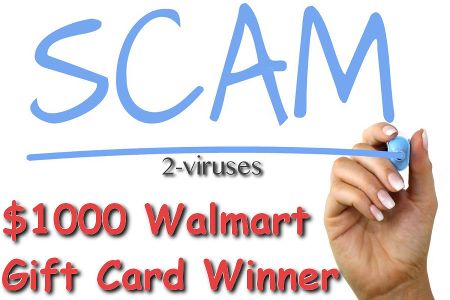 1000 Walmart Gift Card Winner Pop Up How To Remove 2 Viruses