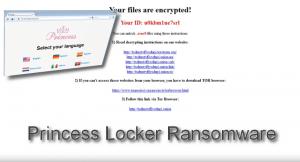 Princess Locker ransomware