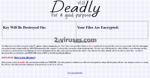 Deadly ransomware
