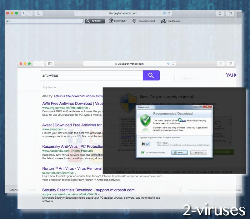 yahoo powered search virus mac