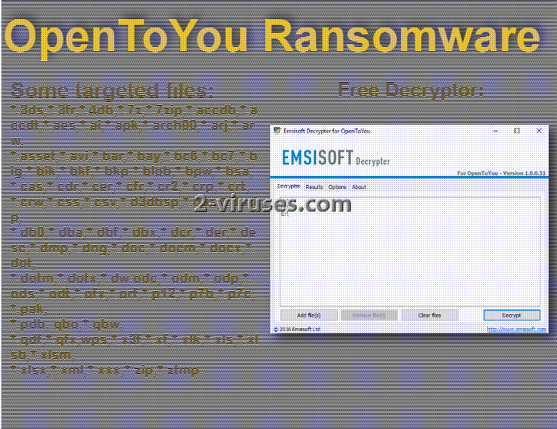 OpenToYou ransomware - How to remove - 2-viruses com