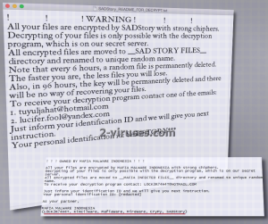 SADStory ransomware