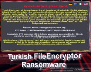 Turkish FileEncryptor ransomware