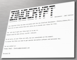 ZinoCrypt ransomware