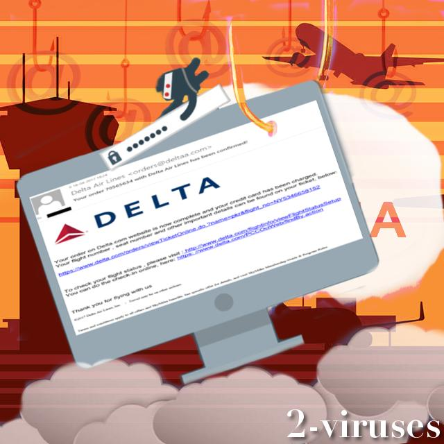A new phishing campaign: scammers pose as representatives of Delta Airlines