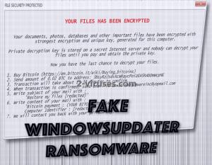 Fake WindowsUpdater ransomware