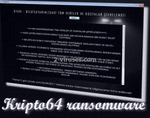 Kripto64 ransomware