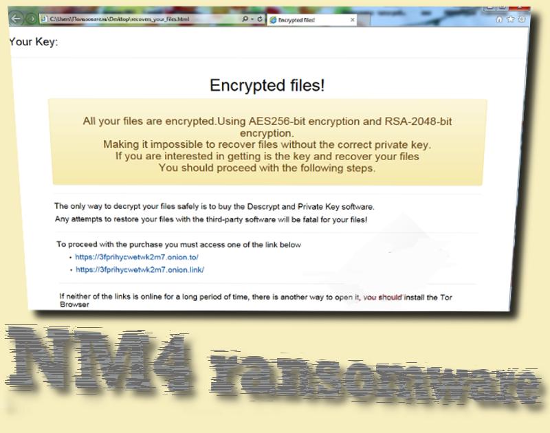 NM4 ransomware virus