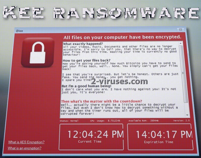 Kee ransomware virus
