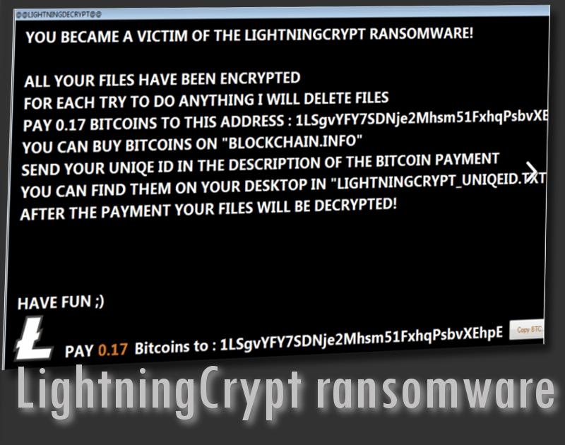 LightningCrypt virus