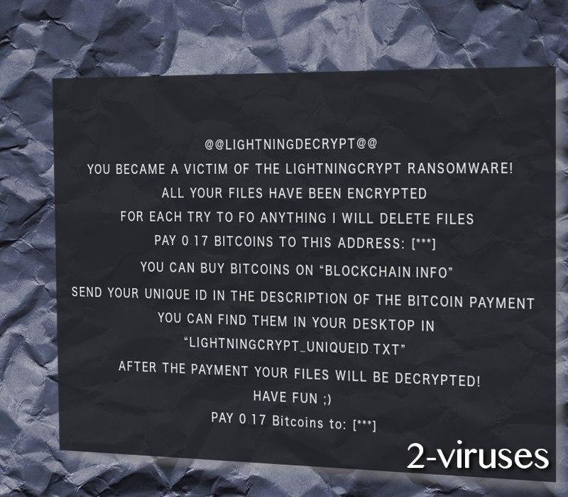 LightingCrypt ransomware