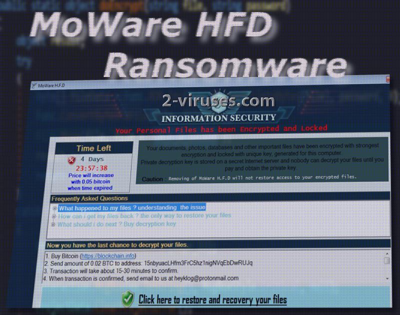 MoWare HFD ransomware