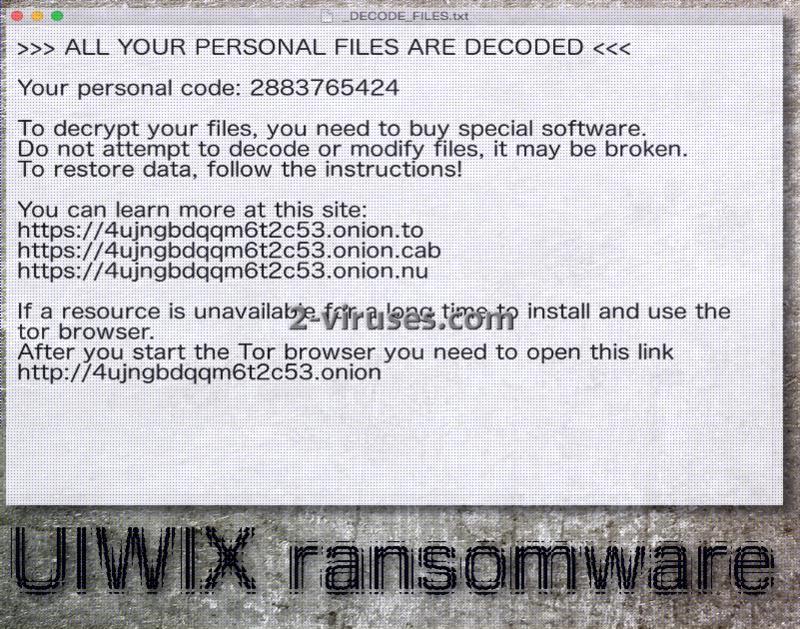 UIWIX ransomware virus
