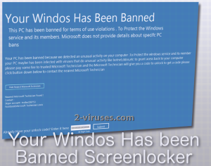 Your Windos Has Been Banned Screenlocker
